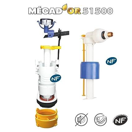 Regiplast mecad oro 51500 conjunto mecanismo Universal caudal Simple con grifo flotador hidráulico, color