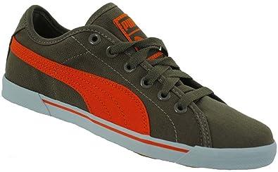 3b83cce6f78b Amazon.com  Puma Benecio Canvas Children Leisure Sneaker Khaki ...