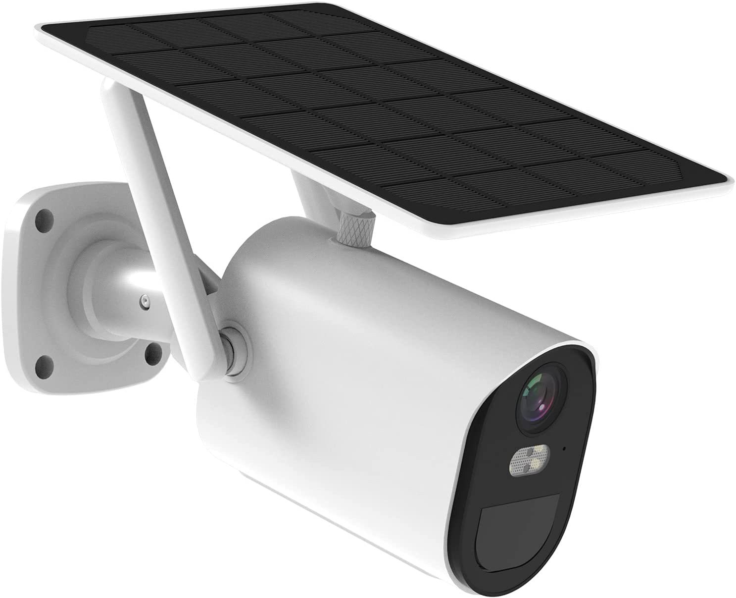Solar-Security-Camera-Outdoor-Wireless Battery Powered,1080p Home Wifi Security Camera,Spotlight Color Night Vision,Two-Way Talk,Siren Alarm, Motion Detection with schedulable woorking time-Soliom B10