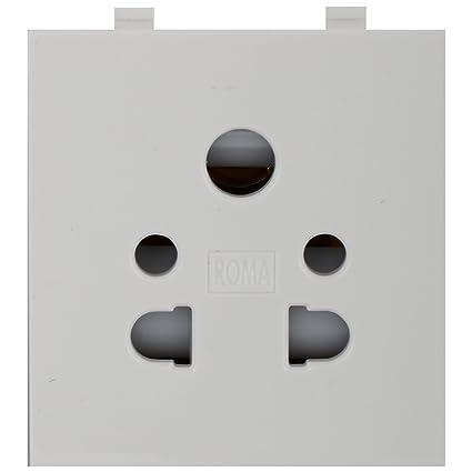 anchor roma 2 pin and 3 pin multi socket 30373 white 10 amp 240v