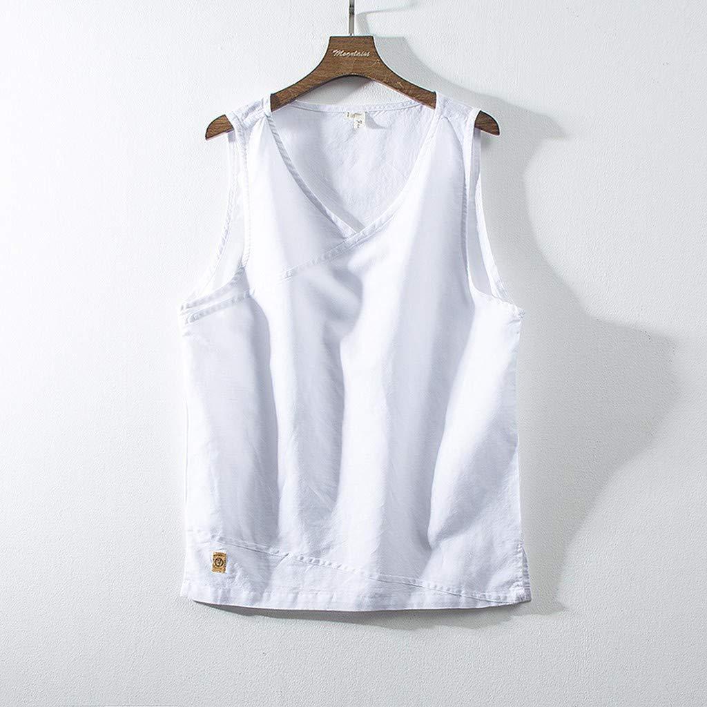 NnuoeN☀ Camiseta de Moda para Hombre Camiseta de algodón de ...