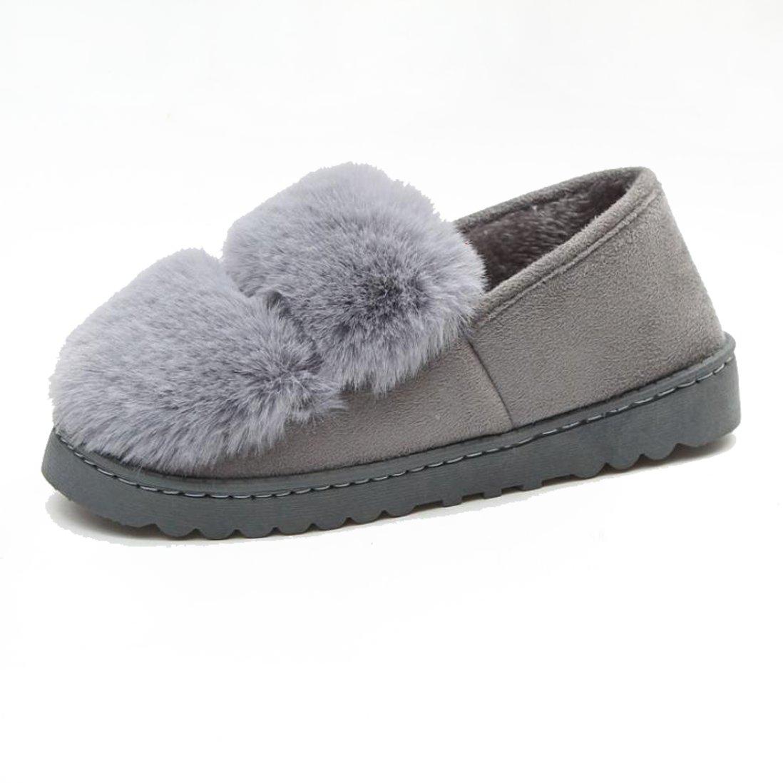 Perman Women's Soft Plush Lining Slip-on Memory Foam Slippers PM-919