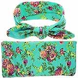 TiaoBug Newborn Baby Floral Cotton Swaddle Blanket