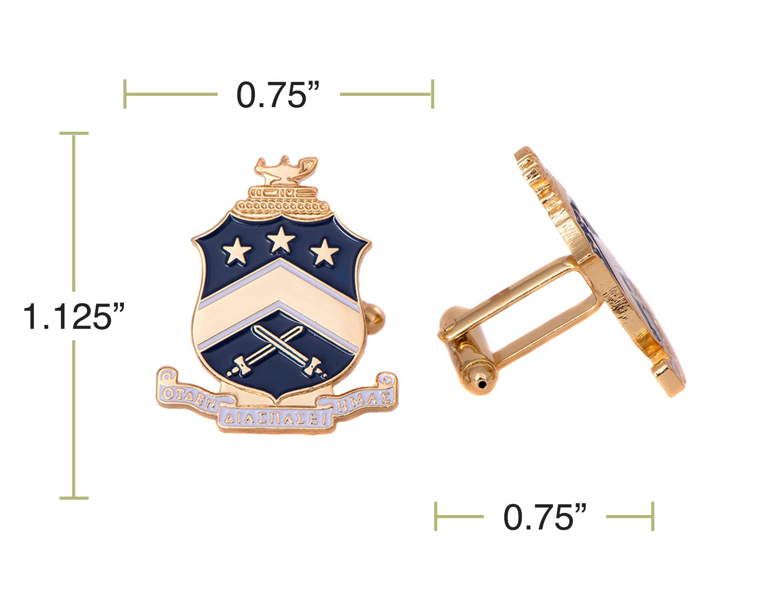 Desert Cactus Pi Kappa Phi Fraternity Crest Cufflinks Greek Formal Wear Blazer Jacket Pi Kapp by Desert Cactus (Image #2)