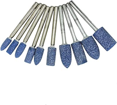 10 Pack Rotary Abrasive Mounted Stone Grinding Tool Silicon Carbide Grinding Kit for Rust Remove