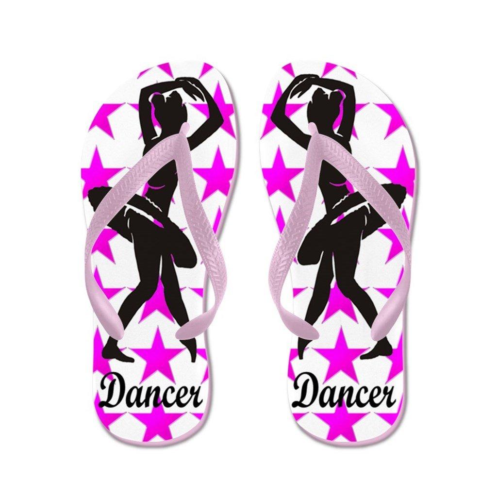 Lplpol Dancer Flip Flops for Kids Adult Unisex Beach Sandals Pool Shoes Party Slippers Black Pink Blue Belt for Chosen