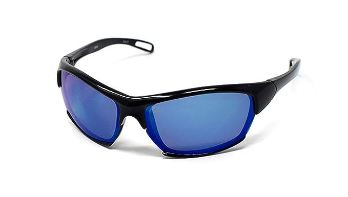 1aa374212661 Childrens Kids Black with Blue Lenses Wraparound high quality Sunglasses  UV400 UVA UVB Protection Shades  Amazon.co.uk  Clothing
