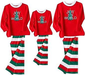 GOWE Pijamas Familiares de Navidad - Mujer Hombre Niños Navidad Impreso Raya Algodón Talla Grande Rojo Manga Larga Pantalones Familiar Ropa de Dormir Dos Piezas, Hombre-XL: Amazon.es: Ropa y accesorios