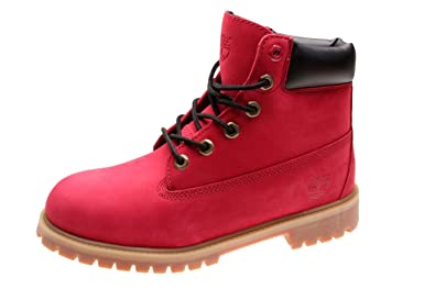 botte timberland femme rouge