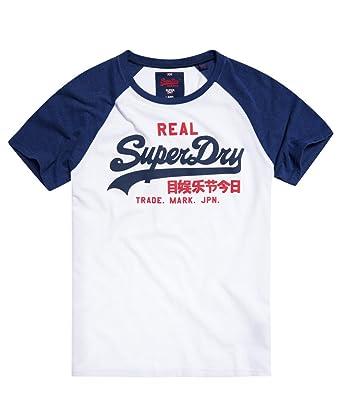 Superdry Herren T-Shirt Gr. XXXL, Bianco (Optic Princeton Blue Marl ... c6743e275b