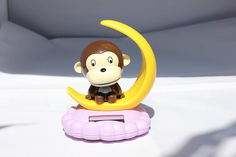 Chic Design 10cm Solar Monkey Dancing on Moon