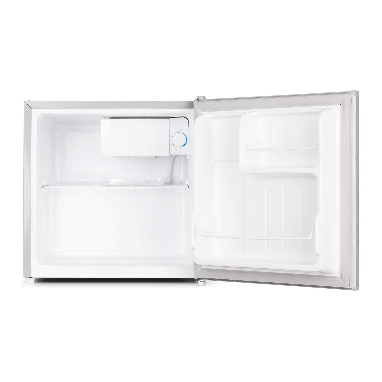 Klarstein 50L1-SG Mini Nevera para Bebidas • Minibar • con Mini congelador • A + • 40 L • 47 x 49, 5 x 44, 4 cm • Silenciosa • 1 Balda • Plata