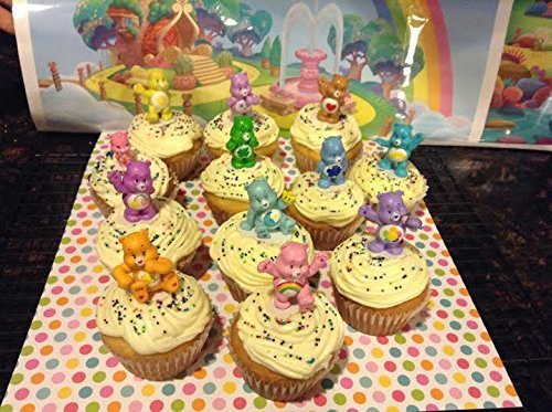 Care Bear Cakes - Care Bears Deluxe Figure Set of 12 Cake Toppers Cupcake Toppers Party Decorations