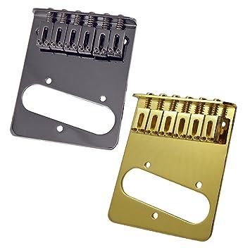 MagiDeal 2 Sistemas de Fijación de Cuerdas de Guitarra Puente Kit para Tele TL Guitarra Eléctrica: Amazon.es: Instrumentos musicales