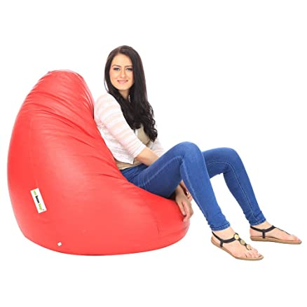 Can Bean Bag Red Filled XXL