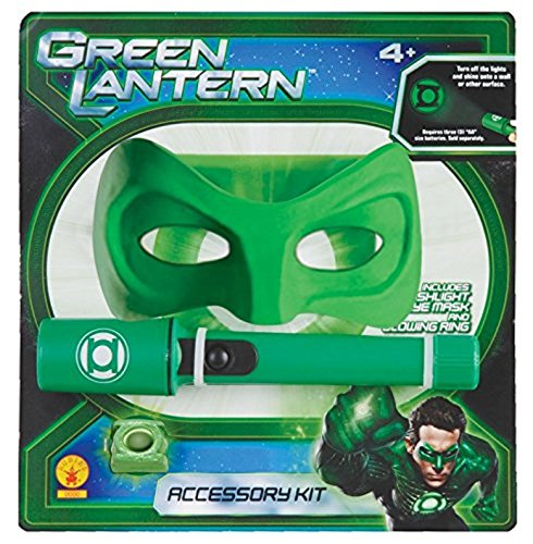 Rubies Green Lantern Accessories Kit - Flashlight With Green Bulb, Mask And Ring - Green Lantern Costumes Kit