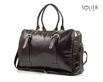 Solier SL16 - Bolsa de Viaje Hombre, marrón (Negro ...