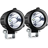 4WDKING Spot LED Driving Lights, 2 Inch Round LED Pods 2 Pcs 20W Waterproof Off Road Work Lamp for Motorcycle ATV Race…