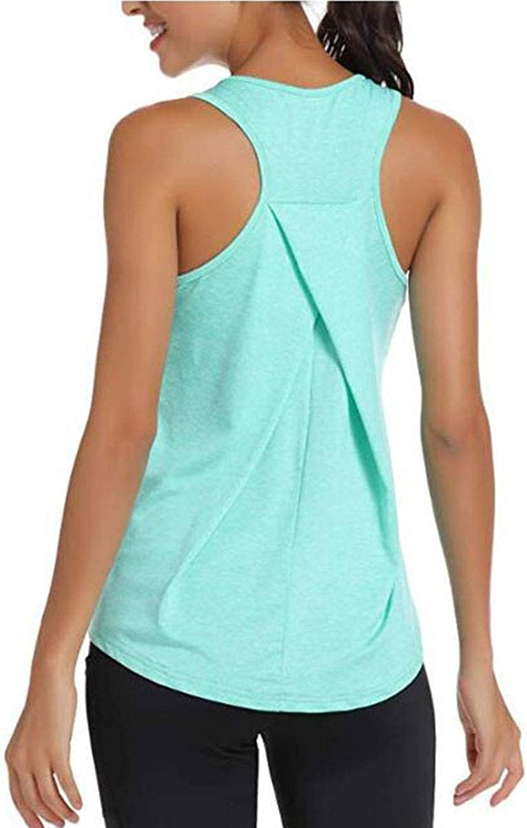 Meegsking Women/'s Short Sleeve Workout Tank Tops Loose Casual Athletic Sport Shirts