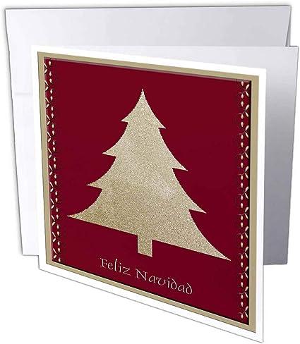 Buon Natale In Spagnolo.3drose Gc 26985 1 6 X 15 2 Cm Gold Tree On Red Feliz Navidad Biglietto Di Auguri Di Buon Natale In Spagnolo Confezione Da 6 Amazon It Cancelleria E Prodotti Per Ufficio