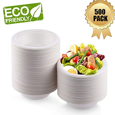 OURhome Cuencos De Papel Rígidos Ecológicos Biodegradables Y ...