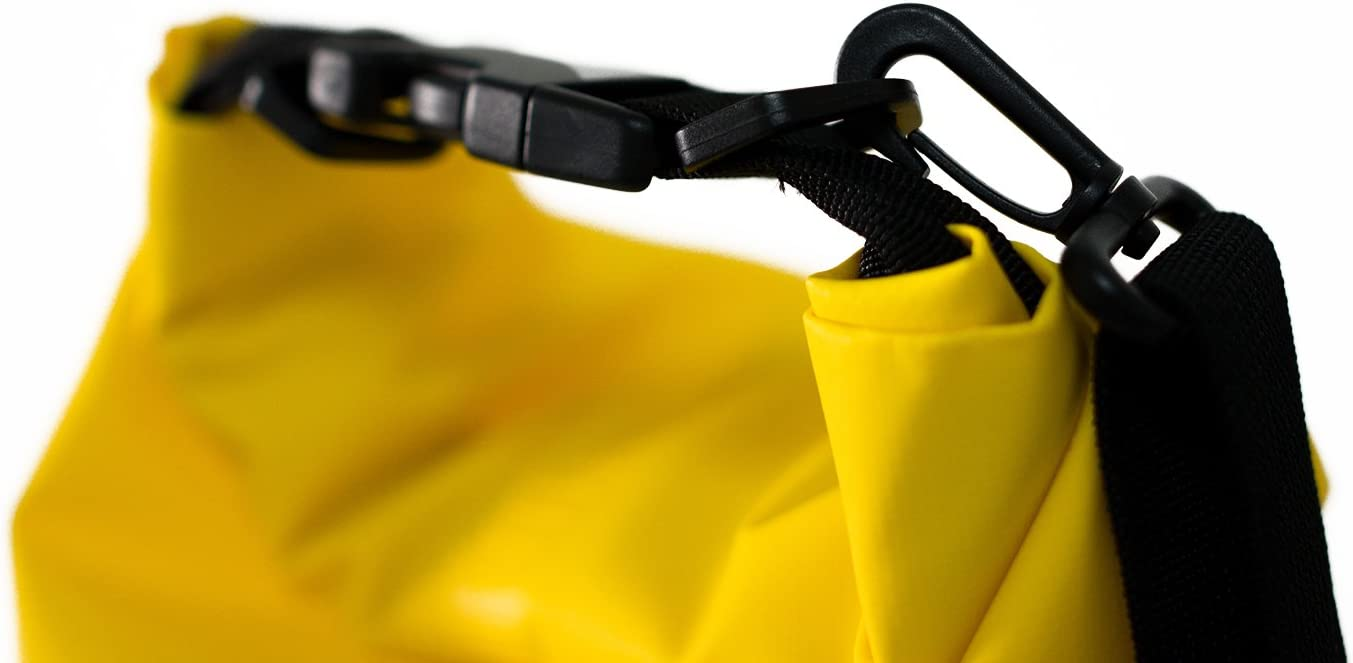 Premium Waterproof Bag//Roll Top Dry Bag Perfect for Kayaking//Boating//Canoeing//Fishing//Rafting//Swimming//Camping//Snowboarding Crafted by Montem Yellow, 20L