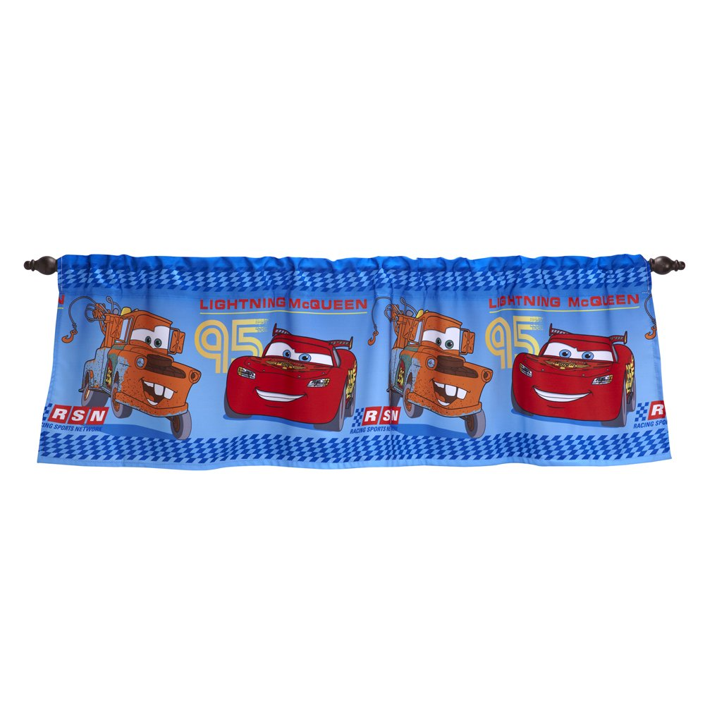 Disney Coordinating Window Valance, Cars Crown Crafts Inc 5082030