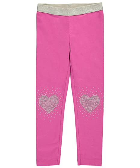 dfb223890f129 Amazon.com: Carters Little Girls Glitter Heart Leggings 4 Pink: Clothing