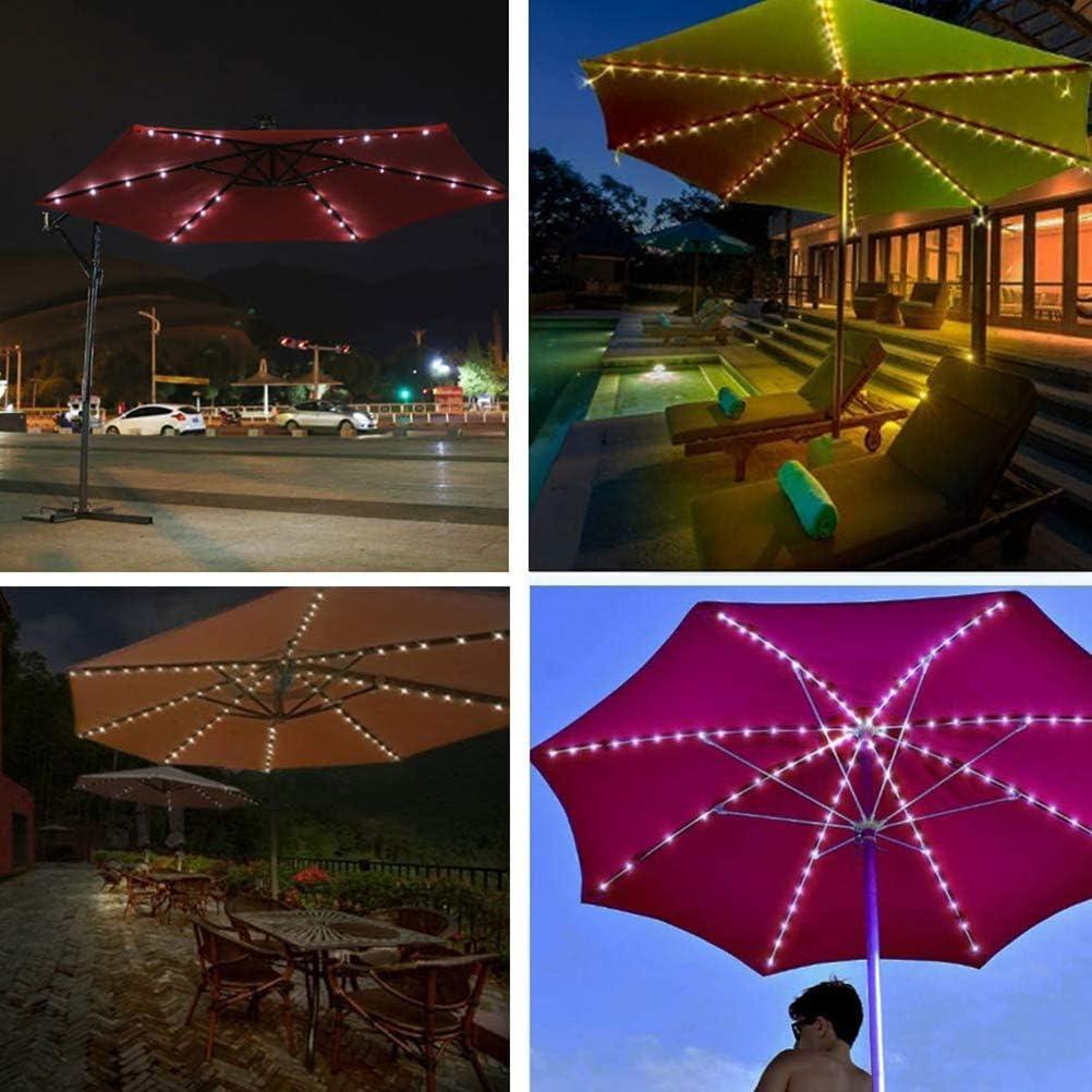 104 Luces de Sombrilla LED Luces de Cadena de Jard/ín con Control Remoto para Patio Trasero Luces de Sombrilla de Patio Carpas de Camping Decoraci/ón de Cubierta de Valla Al Aire Libre