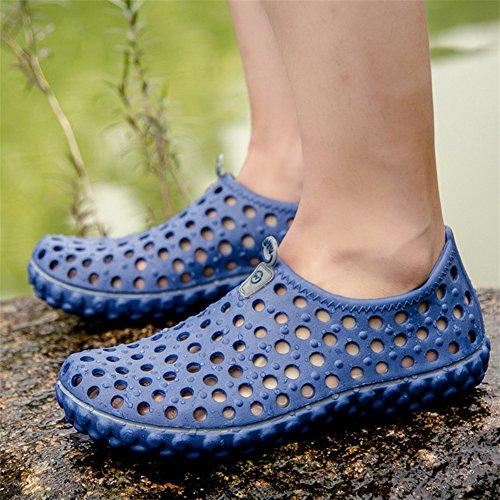blue zapatos Cómodo los Beach Slippers obstruyen Los sandalias hombres respirables de Summer agua Oq7wRSC7