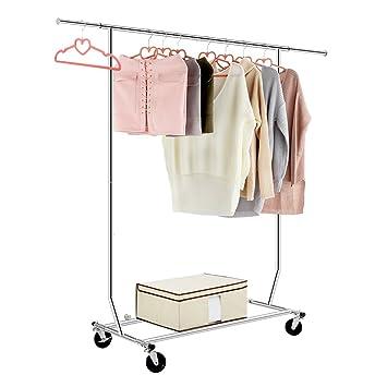 Percheros para colgar ropa perchero ajustable para ropa ruedas barra creativo de moda europea - Burro para colgar ropa ...