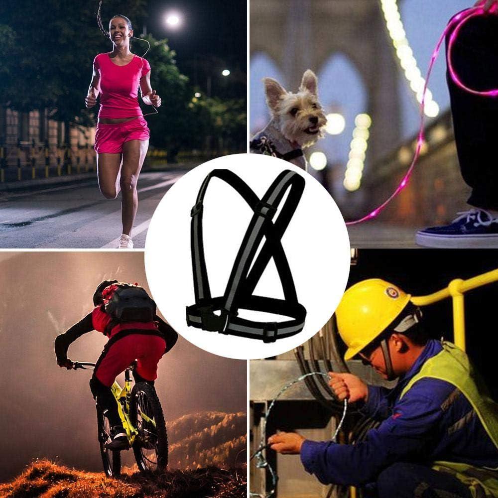 KOBWA Warnwesten Reflektorweste Warnweste Gurt Reflektorweste Einstellbar Fahrrad Warnweste Reflektierende Weste f/ür h/öchste Sicherheit