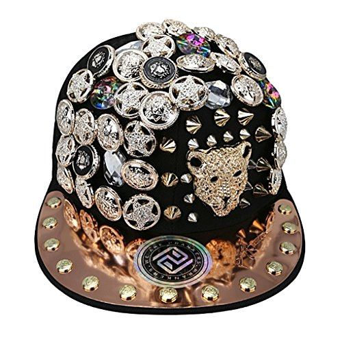 myglory77mall PRANKERS Handmade Flat Cap Snapback Bboy Hats Adjustable Hip-Hop ch5 Black Mesh S For Kids by myglory77mall