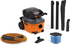 RIDGID Wet Dry Vacuums VAC4010 2-in-1 Compact and Portable Wet Dry Vacuum Cleaner with Detachable Blower, 4-Gallon, 6.0 Peak HP Leaf Blower Vacuum Cleaner