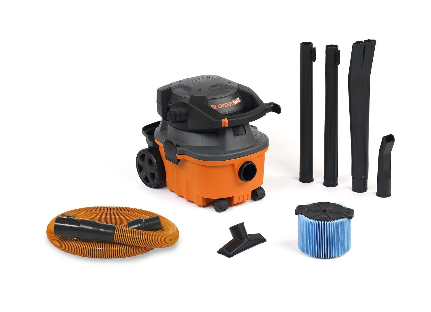 RIDGID Wet Dry Vacuums VAC4010 2-in-1 Compact and Portable Wet Dry Vacuum Cleaner with Detachable Blower, 4-Gallon, 6.0 Peak HP Leaf Blower Vacuum Cleaner by Ridgid
