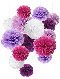 Shop amazon paper art tissue crepe paper ql tissue paper pom pom paper flower ball for party decoration and celebration 15 pcs mightylinksfo