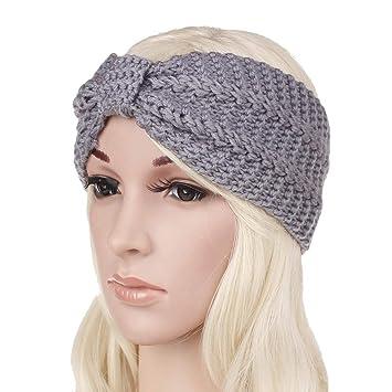 Amazon Com New Style Maize Hair Band Hand Knitting Warm Hair Band Women S Hair Clasp Hair Accessories Light Gary Beauty