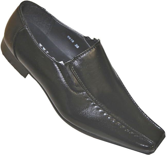 Zapatos Mocasines Hombre Y Chicos Sin Cordones Imitación Cuero Ceremonia Boda