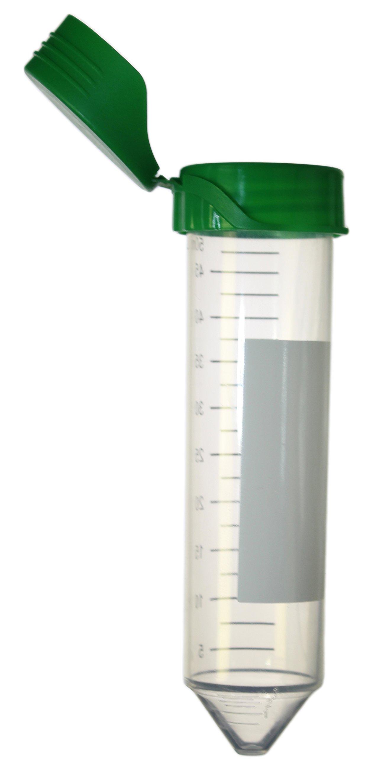 50 mL Centrifuge Tubes with Flip Caps & Paper Rack, Conical, Sterile, Dnase/Rnase Free, Rack of 25