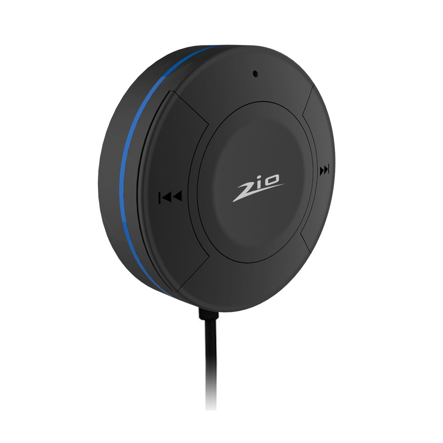 Zio Bluetooth 4.1 Hands-Free Car Kit Bluetooth Audio Music Receiver Adapter with Built-in Mic/3.5mm Aux Cable/ USB Charging Cable/3M Adhesive Base for Smartphones (Black)