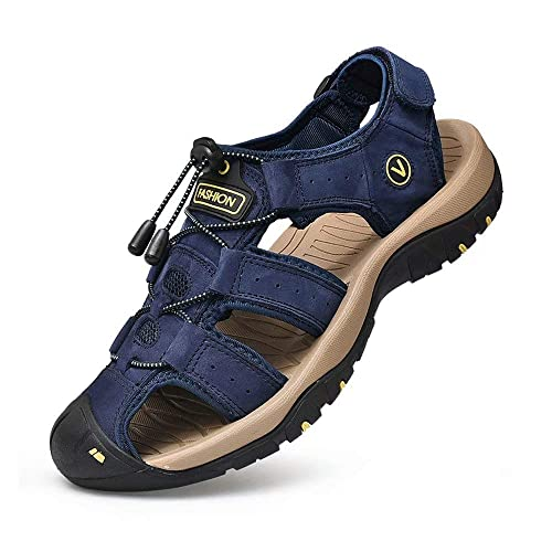 Cuir Fermées D'eau De 38 Sandales Été Toe Extérieur Randonnée Marche Chaussures Homme Plage Closed Sport 48 derCBoxW