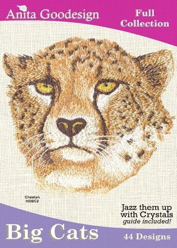 Pes Machine Embroidery Designs (Anita Goodesign Embroidery Machine Designs Cd BIG Cats)