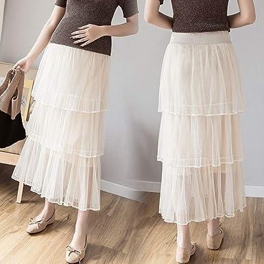 QinMMROPA Falda de Maternidad Plisada para Mujer, Falda de Tul de ...