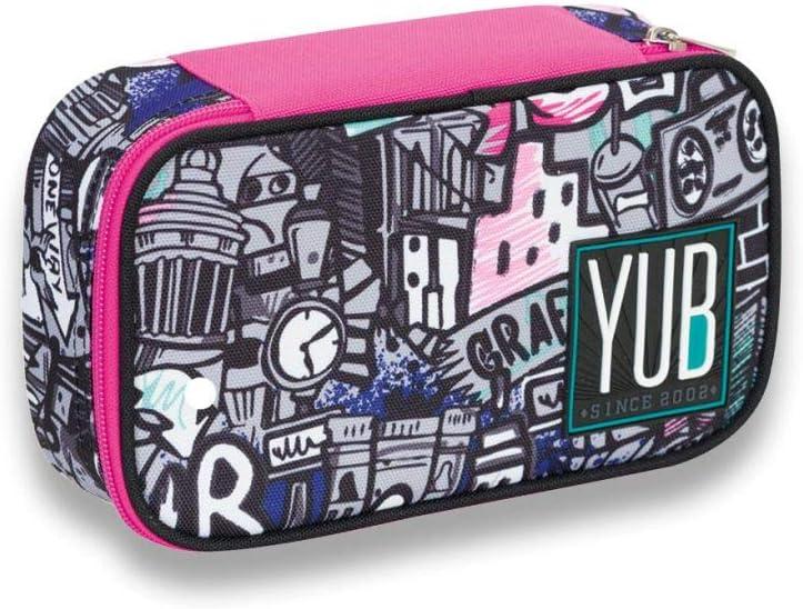 Yub - Estuche completo Quik Case Graffiti, novedad escolar 2019/2020, color GIRL: Amazon.es: Oficina y papelería