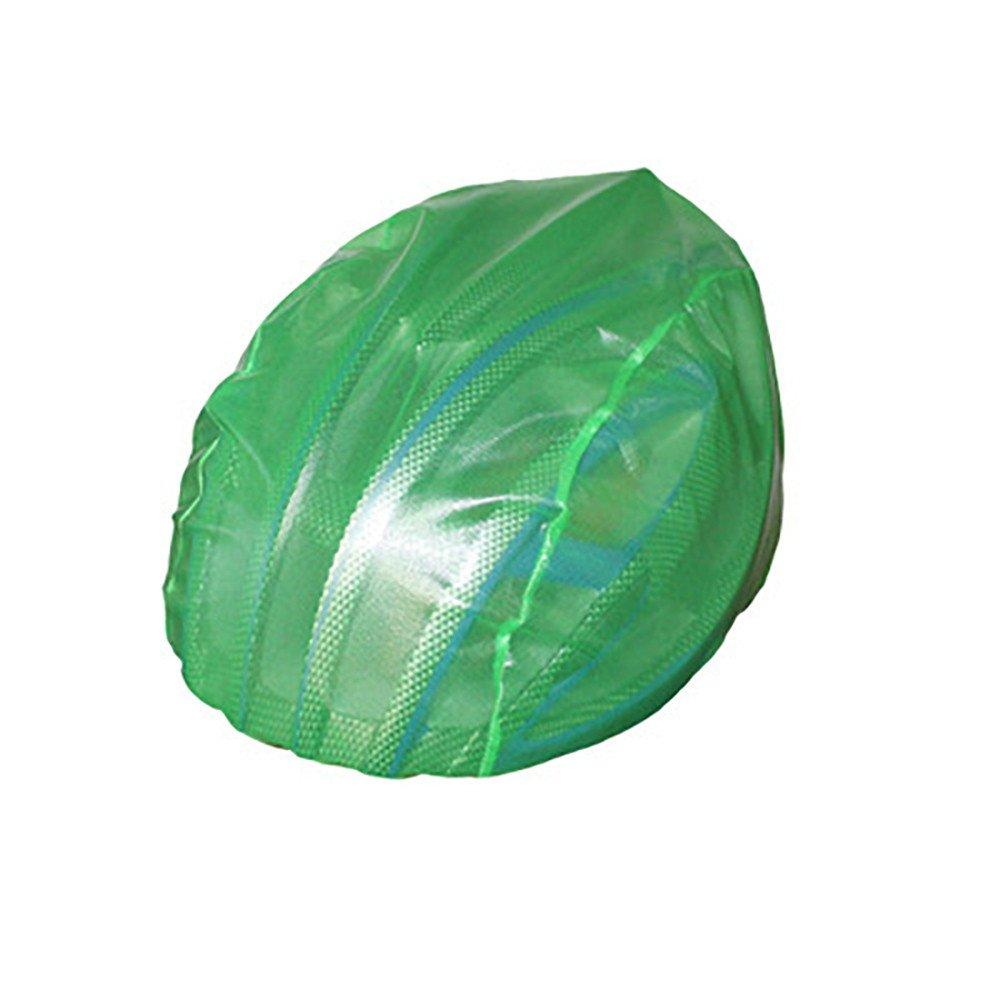 Bike Helmet Rain Cover Waterproof Dust-Proof Nylon Cycling MTB Road Bicycle Helmet Cover Lightweight Easy to Carry and Store Fits All Kinds of Cycling Helmets (Green)