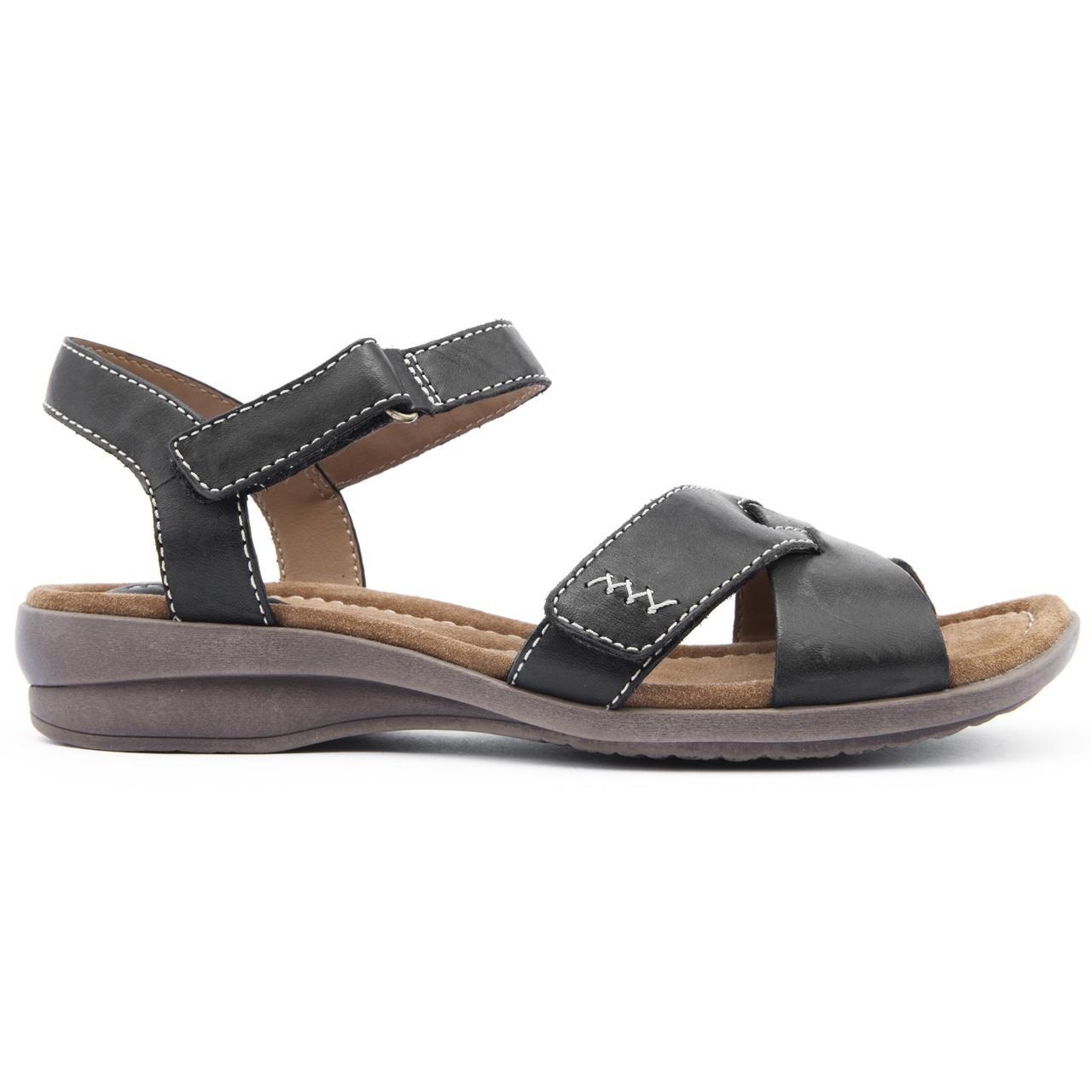 74958e93d71f Clarks Ladies Reid Laguna Black Flat Sandals Size 8  Amazon.co.uk  Shoes    Bags