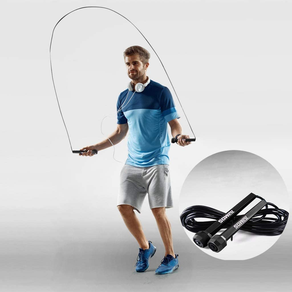 Details about  /3m High Speed Aerobic Steel Wire Skipping Rope Length Adjustable Jump Rope