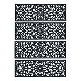 Rubber Scroll Stair Tread-Set of 4