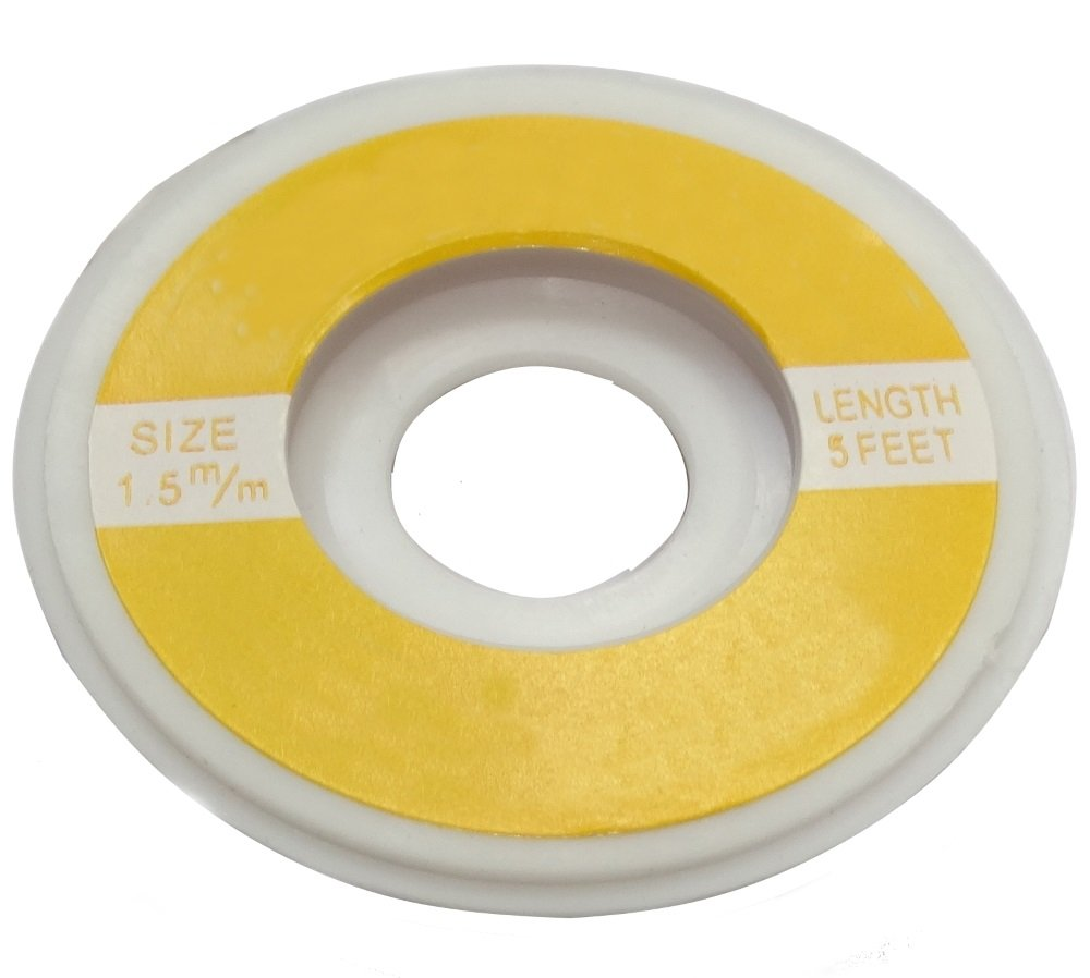 Aerzetix: Tresse Ruban Bande à dessouder dessoudage cuivre 1.5mm/1.6m Flux SK2-C13450-AC442