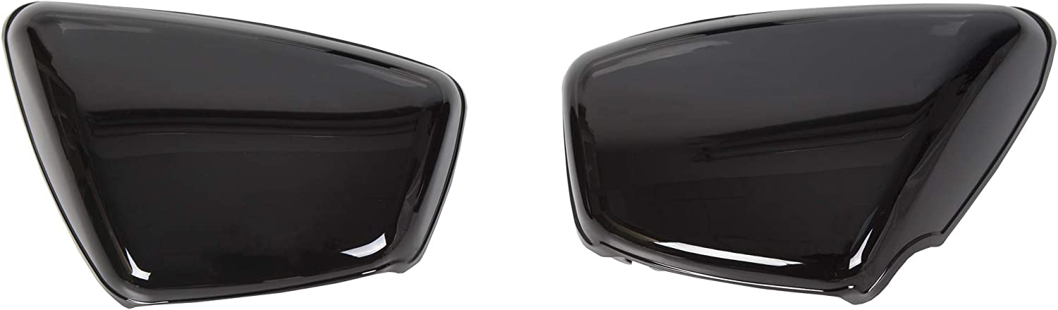 Panel Battery Cover Left Right Side Replacement For 42x-21711-00 42x-21721-00 Fits Yamaha 1984-up XV 700 750 1000 1100 Virago Black 1 Pair